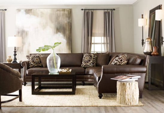 CPI Bernhardt leath sectional LR